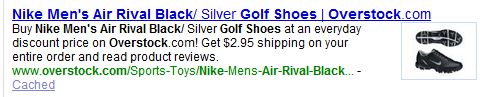 Rich Snippets for products - Yahoo