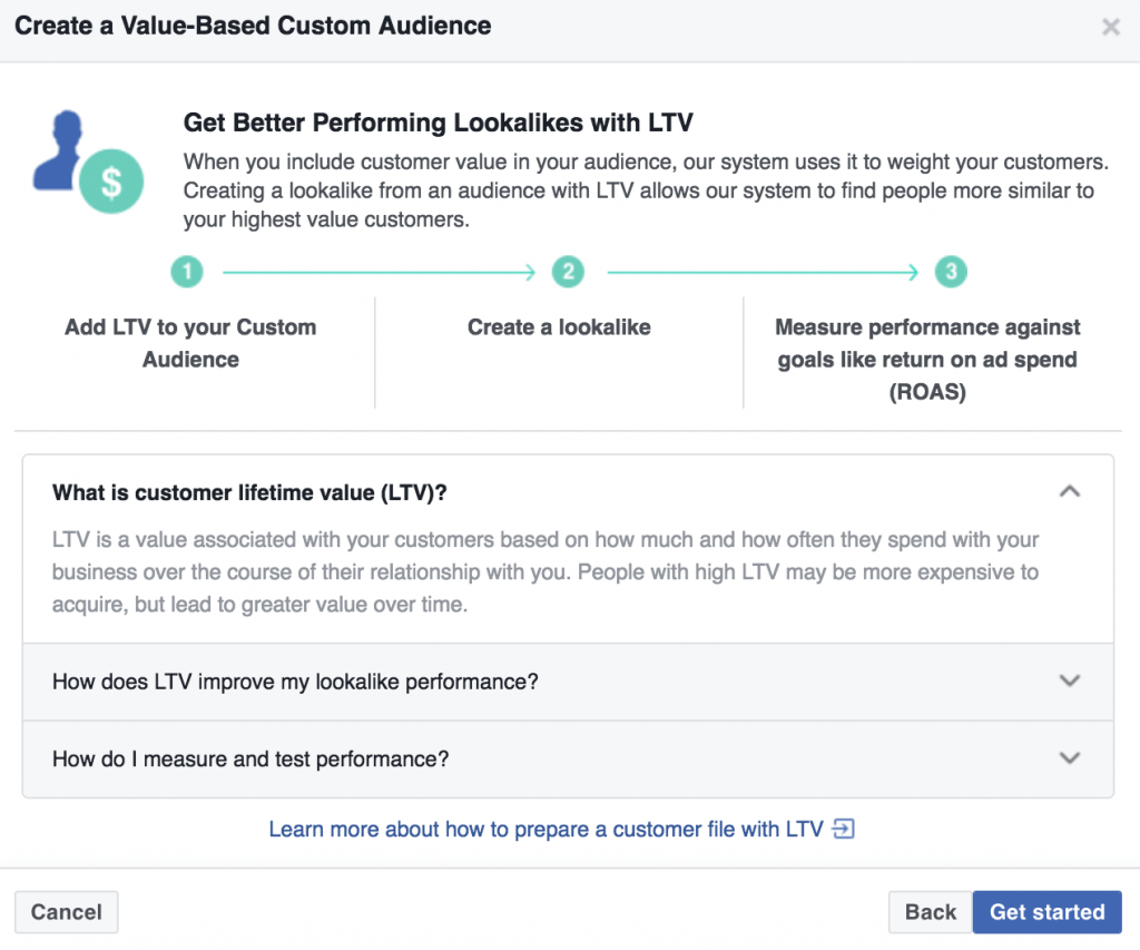 facebook value based lookalike audiences