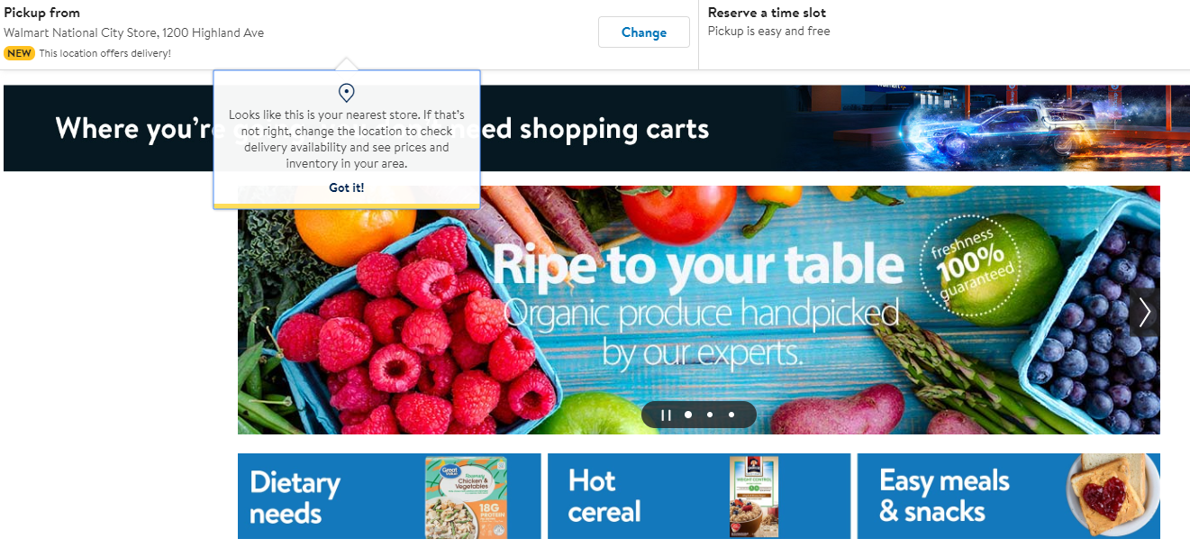 walmart ecommerce cpg grocery pickup